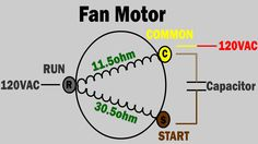 AC fan not working - how to troubleshoot and repair condenser fan motor - trane air condition Ac Wiring, Electrical Circuit Diagram, Electrical Wiring Diagram, Electrical Projects, Electrical Installation, Electrical Engineering, Hvac Air Conditioning, Refrigeration And Air Conditioning, Ac Fan Motor