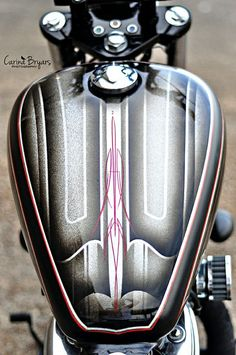 Custom Paint Motorcycle, Bobber Style, Honda Shadow, Motor Scooters, Tank Design, Pinstriping, Cool Bikes, Saddle Bags, Old School