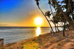 The sunset , Juan Dolio Beach Dominican Republic