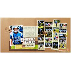 Photo Strips Scrapbook Pages ~ more sports layout ideas at this link ~  scrapbooksetc.com