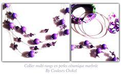 Parures wax et perles en céramique et cristal by couleurs ChokolaT. www.couleurs chokolat.com