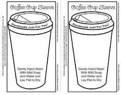template for coffee cup sleeve cozy - Google Search