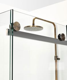 4dce3849e5 Regal Shower Mixer Raw Brass With Metal Lever Handle - Shower Tapware -  Bathroom