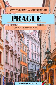 How to spend a weekend in Prague – 48 Hours in Prague: The ultimate guide to Prague travel. I shows you how to spend 2 days in Prague, Czech Republic. From the things to do in Prague, where to stay, what to see, and where to eat and drink to[. Destination Voyage, European Destination, European Travel, Cool Places To Visit, Places To Travel, Travel Destinations, Europe Travel Guide, Travel Guides, Travel Hacks