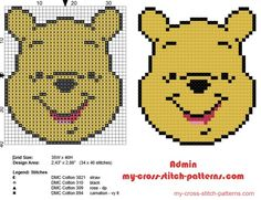 winnie_the_pooh_face_small_cross_stitch_pattern_baby_bib_idea-t2.jpg (580×446)