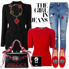 A fashion look from March 2017 featuring Dolce&Gabbana sweaters, Blazé Milano jackets и Gucci shoulder bags. Browse and shop related looks.