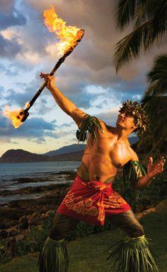 Nifo Oti, fire-knife dance, Hawaii