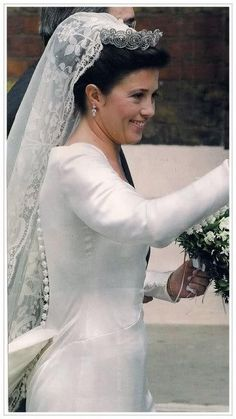 knowingtheroyals:  Princess Alexia of Greece wearing the Khedive of Egypt Tiara and Danish antique lace veil