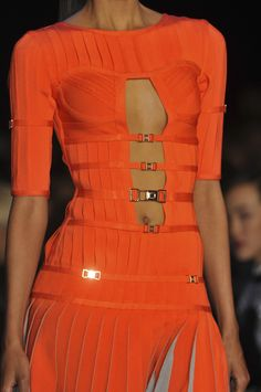 Herve-Leger by Max-Azria orange