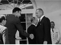 Ralph Nader meets Lyndon Johnson.