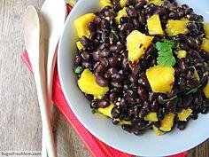 Caribbean Black Bean Mango Salad with Orange Ginger Dressing Fun Recipes, Low Carb Recipes, Vegan Recipes, Healthy Beans, Orange Salad, Free Mom, Bean Salad, Dressing Recipe, Jenni