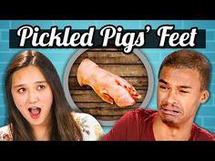 TEENS vs FOOD - PICKLED PIG'S FEET