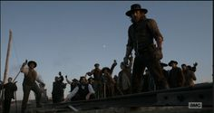 Tim Guinee, Mpho Koaho, Anson Mount, Dohn Norwood, Henry Kwok, and Kim Mark in Hell on Wheels