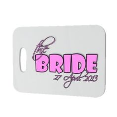 £3.95 Personalised The Bride Luggage Tag