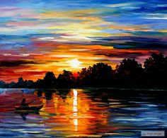 LIFE MEMORIES — PALETTE KNIFE Oil Painting On Canvas By Leonid Afremov