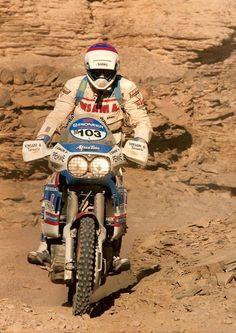 E. Bonacini, Honda Africa Twin, Dakar Rally 1991.