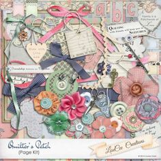 This gorgeous page was made with Quilter's Patch by #LouCeeCreations is on sale now at #theStudio. Ribbon and twine with scissors embellished, time spent on quilting is the time I most relish.  Textures and colors, patterns and pins, as soon as one's finished, another begins.  This digital scrapbooking kits is a needleworkers dream. SAVE 35%  #digitalscrapbooking #thestudio