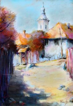 Tarcsay Béla 1952   Hungarian Impressionist Figurative painter Abstract Painters, Abstract Art, Heart Wall Art, Pastel Landscape, Paintings I Love, Painting Styles, Fashion Painting, Painting Lessons, Learn To Paint