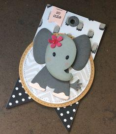 Lieve labels - tags -Eline's diertjes  - Marianne Design gecombineerd met DSP Stampin Up.
