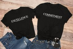 Commitment T-Shirt - Black, Unisex T-Shirt, Motivational T-Shirt, Positive T-Shirt by FunTeazz on Etsy Suits You, Cool T Shirts, Motivational, Unisex, Trending Outfits, Sweatshirts, Sweaters, Fun, Cotton