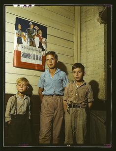 Rural school children, San Augustine County, Texas  (LOC) by The Library of Congress, via Flickr. 1943 April.
