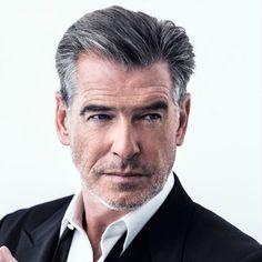 pierce brosnan grey hair for men