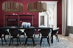 Stunning Italian residence by Ukrainian interior designers www.bestinteriordesigners.eu #interiordesign #modern #diningroom