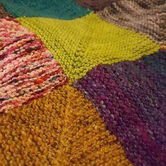 I SHOULD be knitting samples but my blanket is calling me. . . #procrastiknitting #fluph #dundee #blanket #miteredsquareblanket #oddsandsods