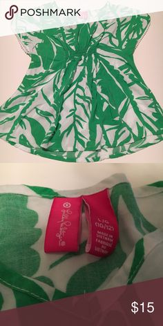 Lily Pulitzer Target collection Green Boom Boom Lily Pulitzer Target collection green rayon Boom Boom print Lilly Pulitzer for Target Shirts & Tops Blouses