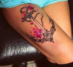 Pissaro, tattoo artist #Watercolor #anchor