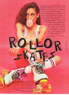 Printed Cotton Spandex Crop Tank in YOHO! Girl Magazine, China. #AmericanApparel