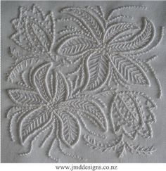 JMD Designs -JMDWW9  Will - Whitework Needlework, Quilting and Applique