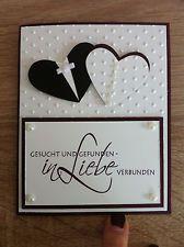 Stampin up Glückwunschkarte Hochzeit