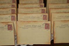 Marque place carte postale