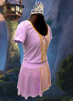 Rapunzel inspired running top on Etsy, $48.00