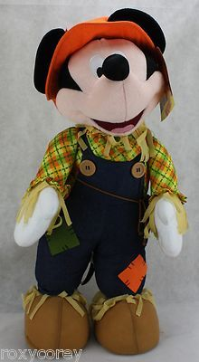 Halloween-Fall-Disney-Mickey-Mouse-Porch-Greeter-Dress-as-a-Scarecrow-25-in-Tall