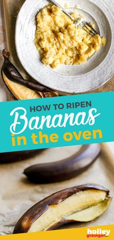 Go From Green Bananas to Ripe Bananas in 30 Minutes! Ripen bananas in the oven in just 25 minutes so you no longer have to wait to make your favorite banana bread recipe. This express ripening tip guarantees perfectly ripe bananas in no time! Vegan Recipes Beginner, Healthy Low Carb Recipes, Spicy Recipes, Sweet Recipes, Yummy Recipes, Christmas Recipes Dinner Main Courses, Thanksgiving Recipes, Appetizer Recipes, Dessert Recipes