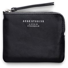 ACNE Pouch Black ($110) ❤ liked on Polyvore featuring bags, handbags, clutches, accessories, leather purse, leather pouch, leather handbags, leather pouch purse and black handbags