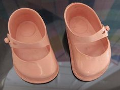 Vintage Pink Doll Shoes Soft Vinyl Rubber Fairyland Toy Prod. by CollectionSelection on Etsy, SOLD