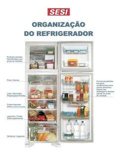 A parte de cima da geladeira é a mais fria. É pensando nisso que você distribui os alimentos.