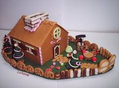 Turorial how to make a house of gingerbread clay - Maison en pain d epice fimo ...