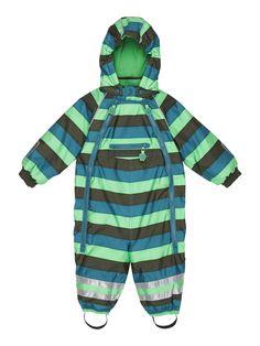 ej sikke lej STRIPED OUTERWEAR baby winter suit green