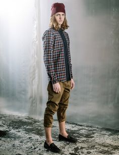 After The Dark - Plaid Shirt Beanie Chinos Loafer Look Book Winter Style Shoot Casual Street Style