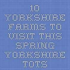 10 Yorkshire Farms to Visit This Spring - Yorkshire Tots