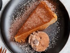 Probeer hierdie ou gunsteling met 'n koffiekinkel Melktert, Custard Recipes, Pie Dessert, Tart, Chocolate, Breakfast, Desserts, Food, Morning Coffee
