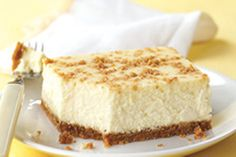 Refreshing and creamy, with just a hint of lemon, this luscious cheesecake is pure bliss.