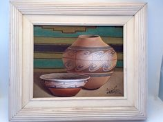 MYUNG MARIO JUNG POTTERY STILL LIFE ART SAND PAINTING