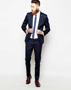 Skinny Navy Suit for the Groom