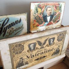 Set of 3, Rustic Cigar Boxes