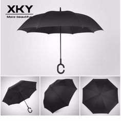 Double Layer Inverted Umbrellas with Mid-Century Leaves Print Reverse Folding Umbrella for Car